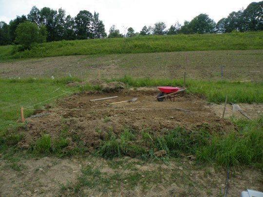 Leveling the ground for the Greenhouse