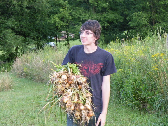 Nate Carrying Onions
