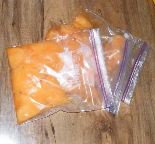 Cantaloupe, Ready To Freeze