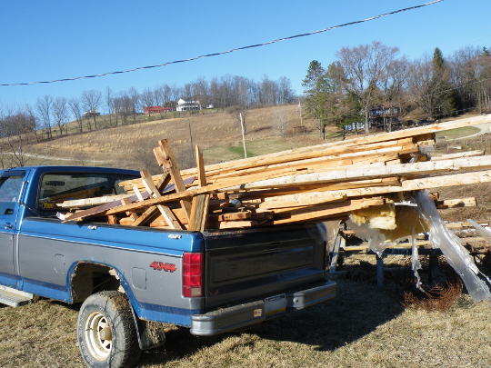 Truck Full of Recycled Wood