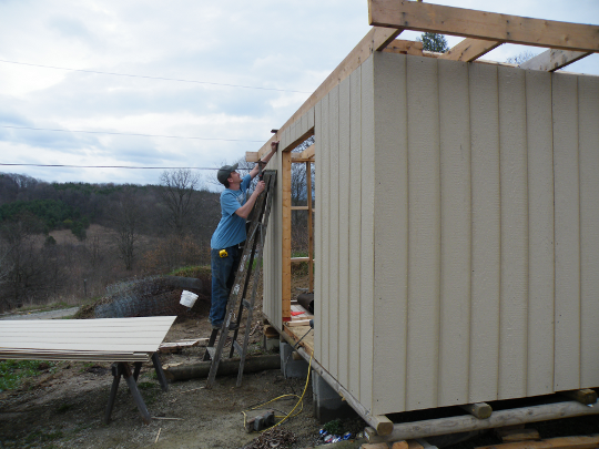 Nailing the Sheeting in Place