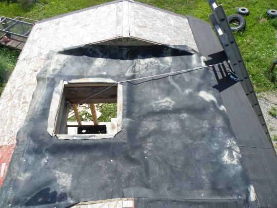 Landing Covered with Rubber Roofing