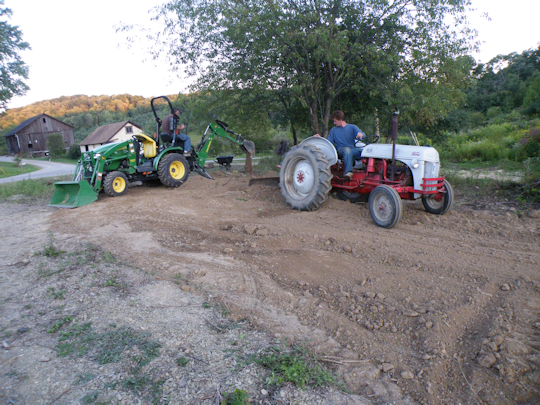 Two Tractors Working Well Together - Photo by Jessica M.