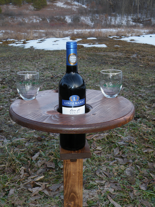 Wine Bottle and Glass Stand